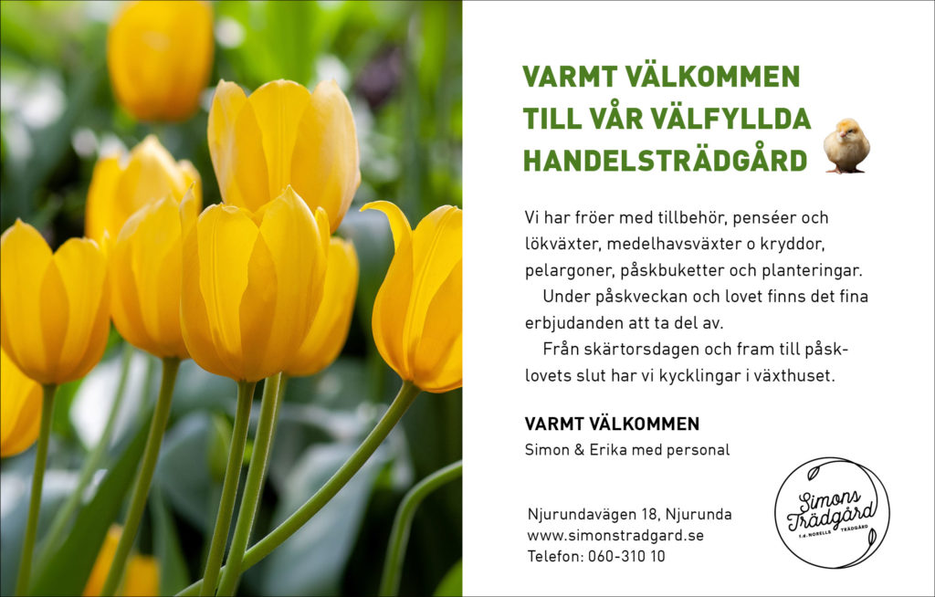 påsk simons trädgård sundsvall erbjudanden