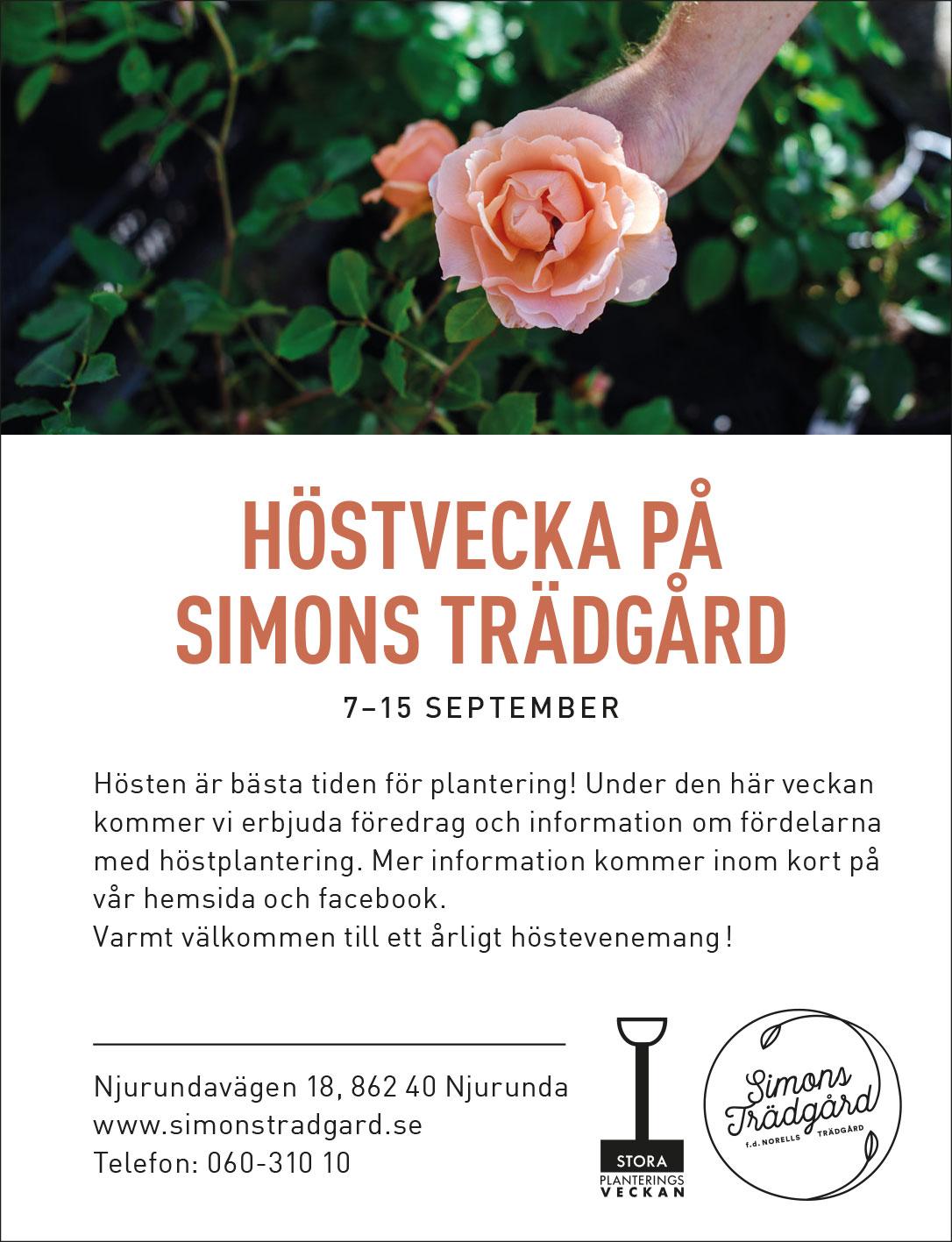 Höstvecka Simons Trädgård